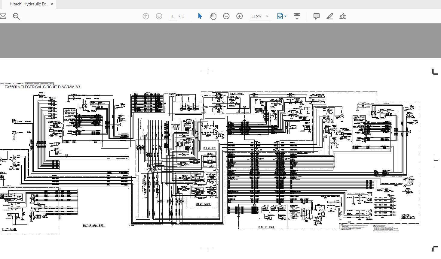 honda ex5500 wiring diagram hitachi hydraulic excavator ex5500 5 electrical circuit diagram  hitachi hydraulic excavator ex5500 5