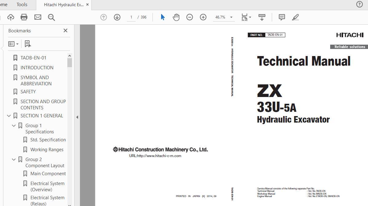 Hitachi Hydraulic Excavator Zx135us