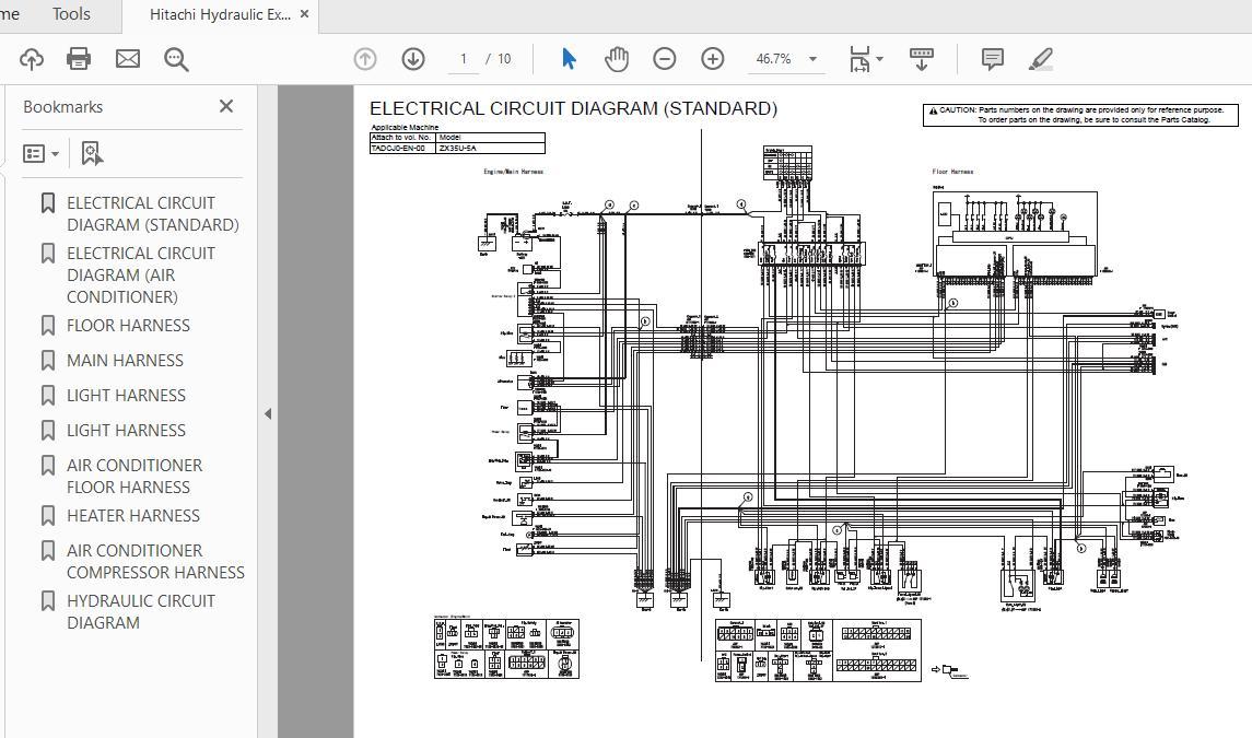 Hitachi Hydraulic Excavator Zx35-5a Tadcj0-en-00 Electrical Circuit Diagram - Homepage