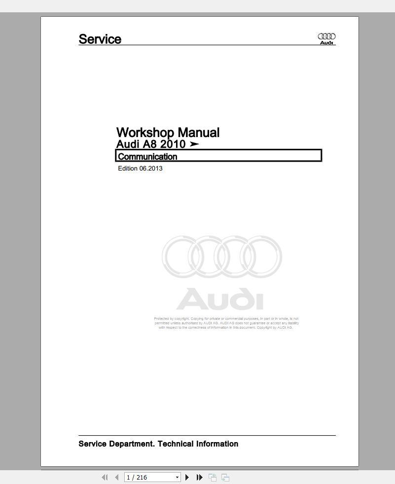 Audi A8 S8  D44h  2010