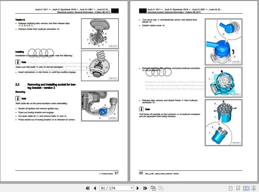 Audi A3  8v  2013-2020 Wiring Digarams  U0026 Workshop Manuals En - Homepage