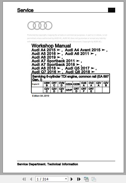 Audi 2020 Body Repair Manual  Workshop Manuals And Wiring