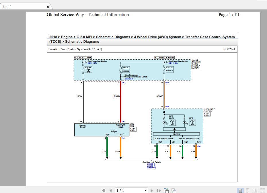 Hyundai Tucson 2018 2 0 Mpi Wiring Diagrams  All System