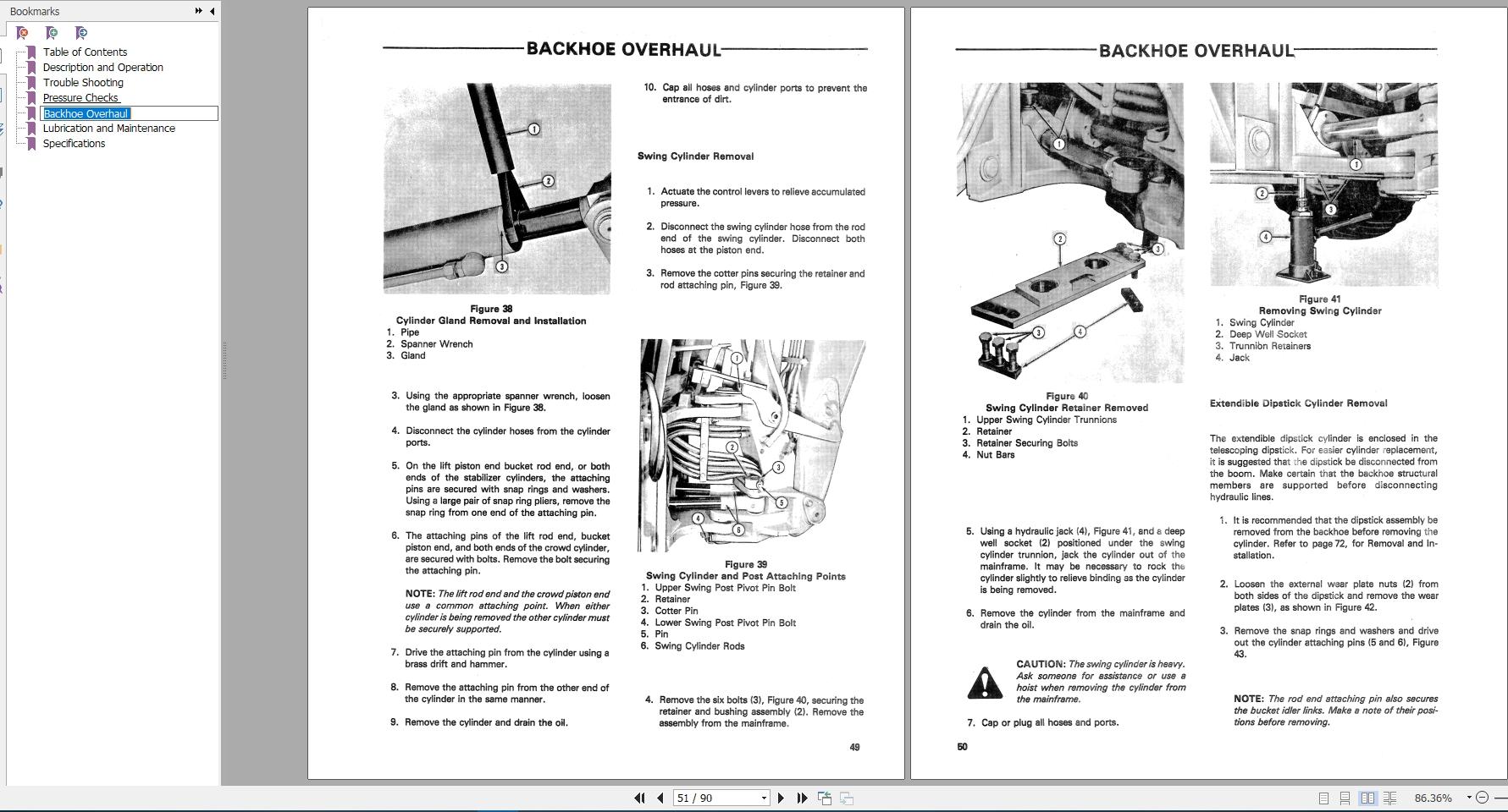 New Holland Backhoe Series 765 Repair Manual 40076510