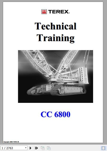 Terex Demag Crawler Crane Cc6800 Technical Training Manual
