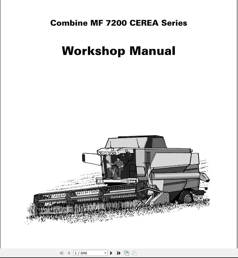 Massey Ferguson Combines Mf 7200 Cerea Series Workshop Manual - Homepage