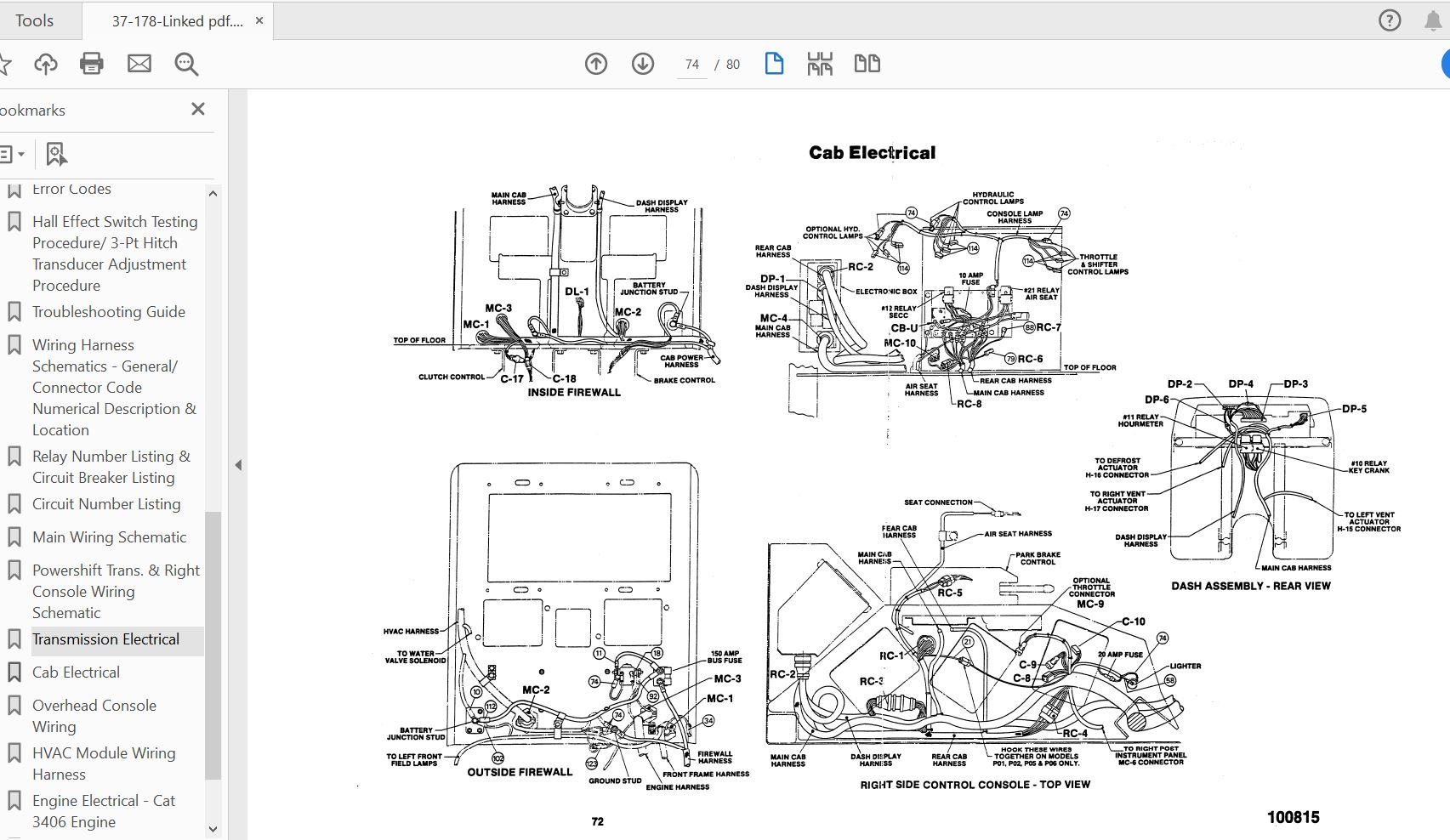Case Ih Tractor Secc Wiring Schematics Panther Lion 9170