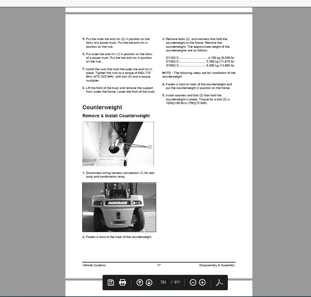 Doosan Infracore Forklift 2009 Service Manual Wiring Diagram And Bulletin Dvd - Homepage