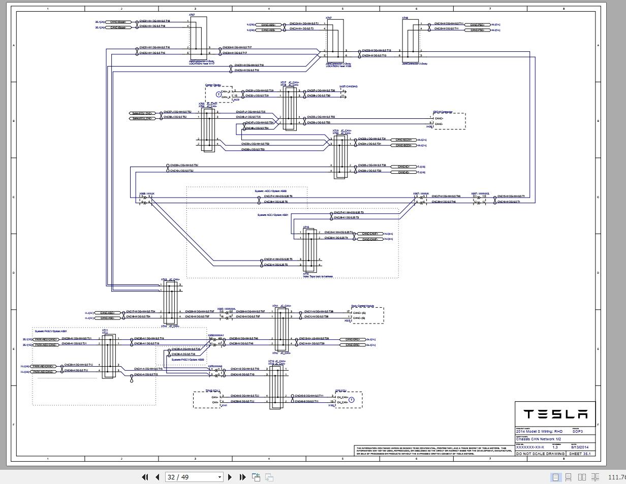 Tesla Model S Workshop Manual Wiring Diagram 2013