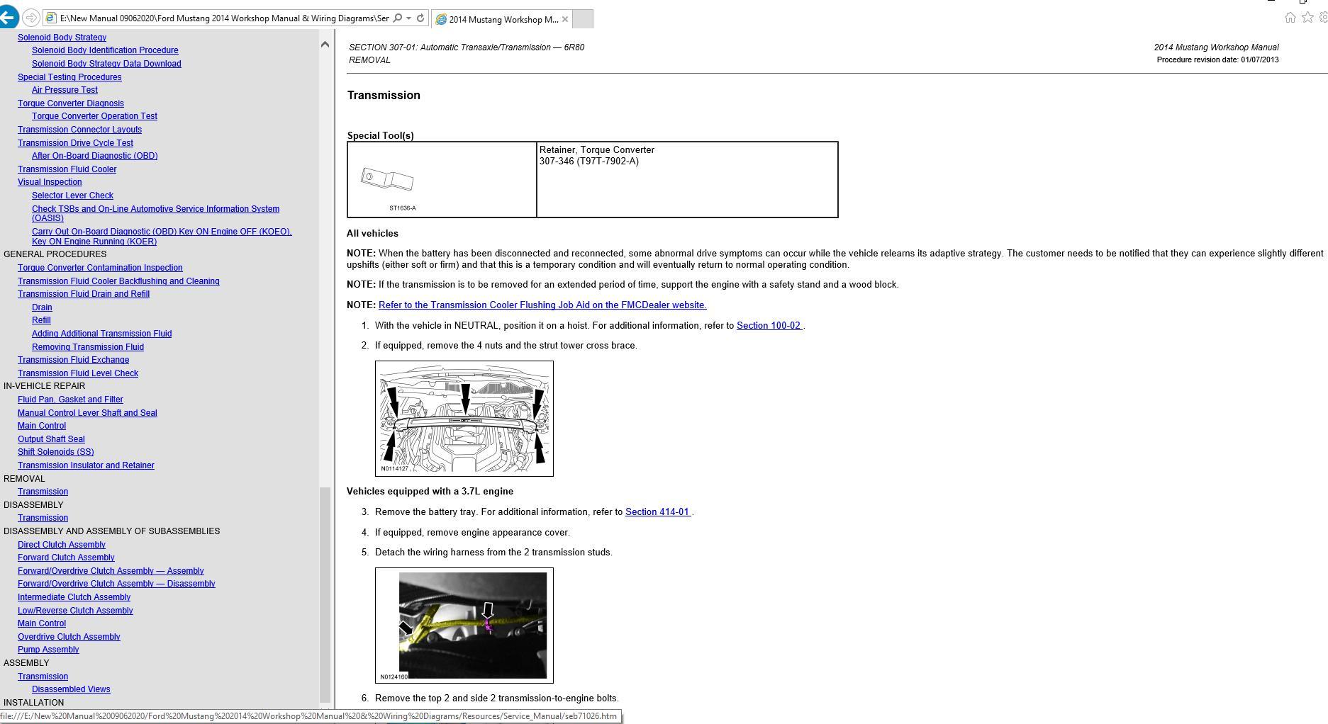 Ford Mustang 2014 Workshop Manual  U0026 Wiring Diagrams