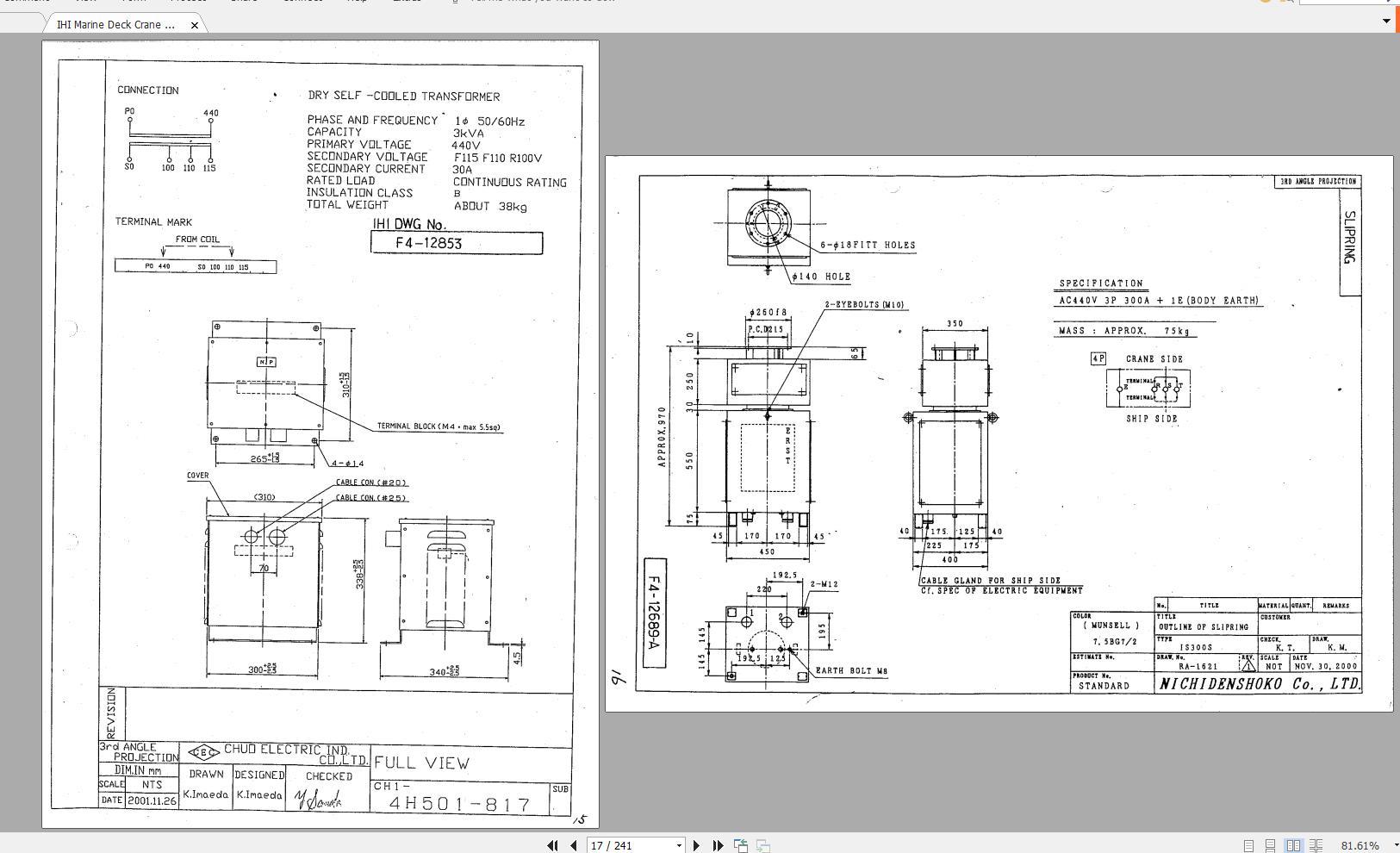 Ihi Marine Deck Crane Electrical Circuit Diagram Equipment - Homepage