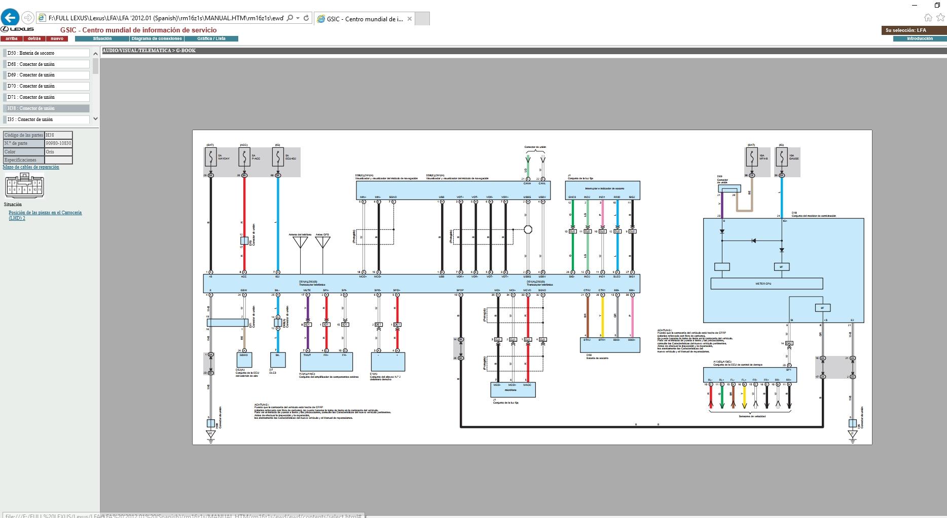 Wiring Diagram Lexus Lfa
