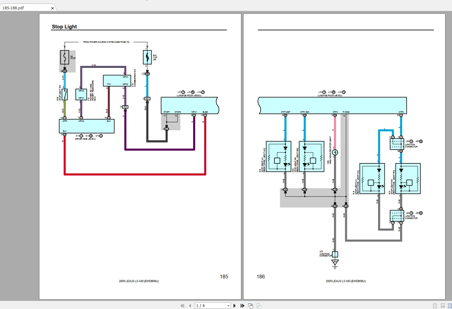 Lexus LS430 2005 (USA) Electrical Wiring Diagram ...