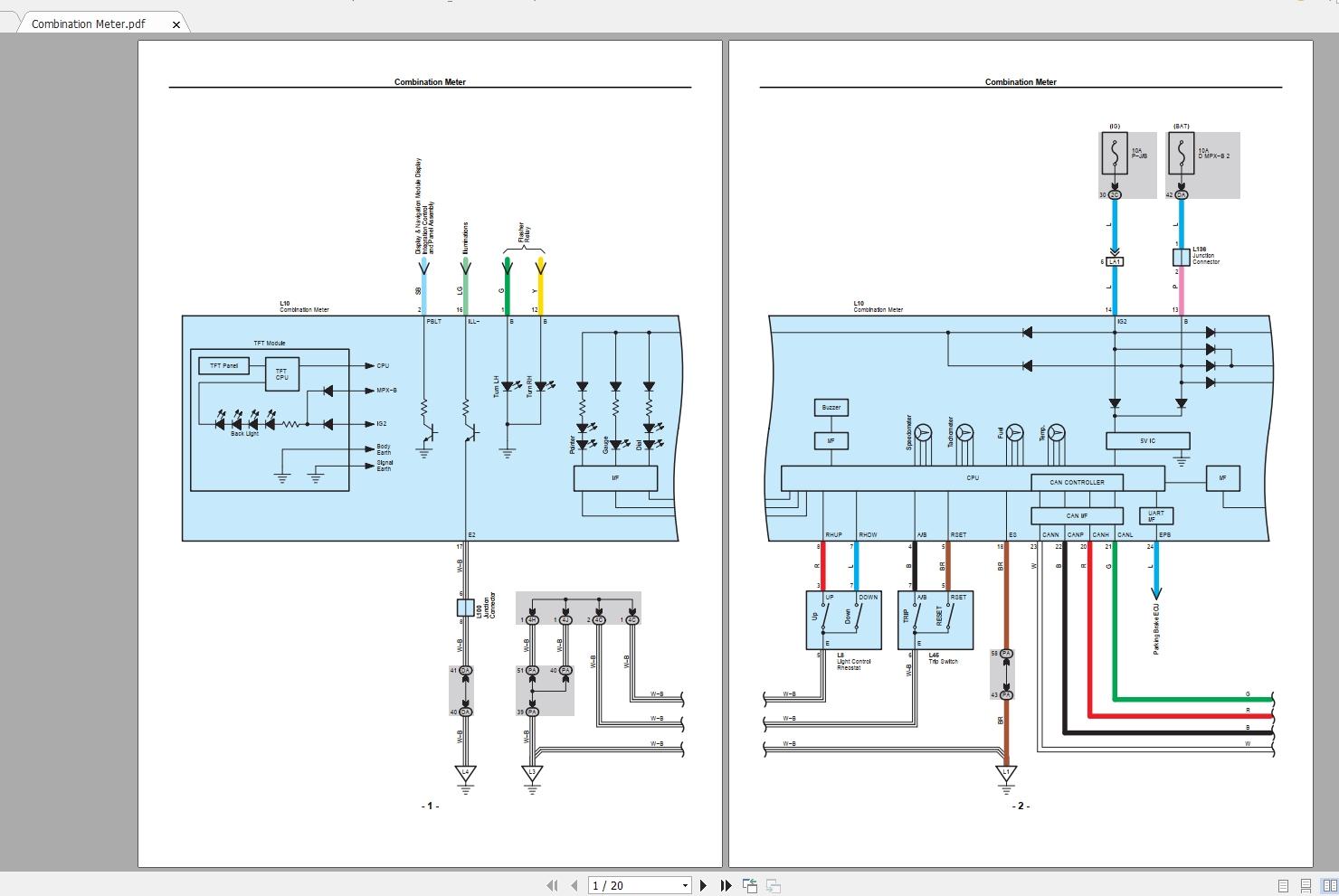 Lexus Ls460  2010  Electrical Wiring Diagram