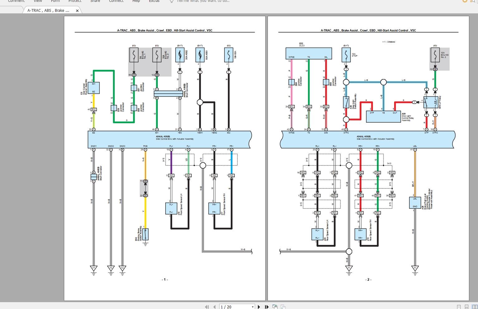 Lexus Lx570  2010  Electrical Wiring Diagram
