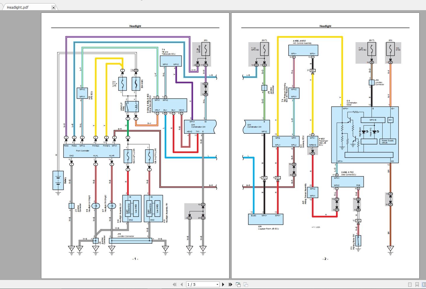 Lexus Sc430 2010 Electrical Wiring Diagram