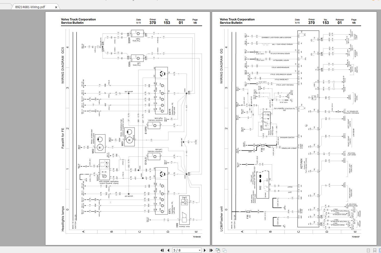 Volvo Fe Trucks Service Manual Buses  U0026 Wiring Diagrams