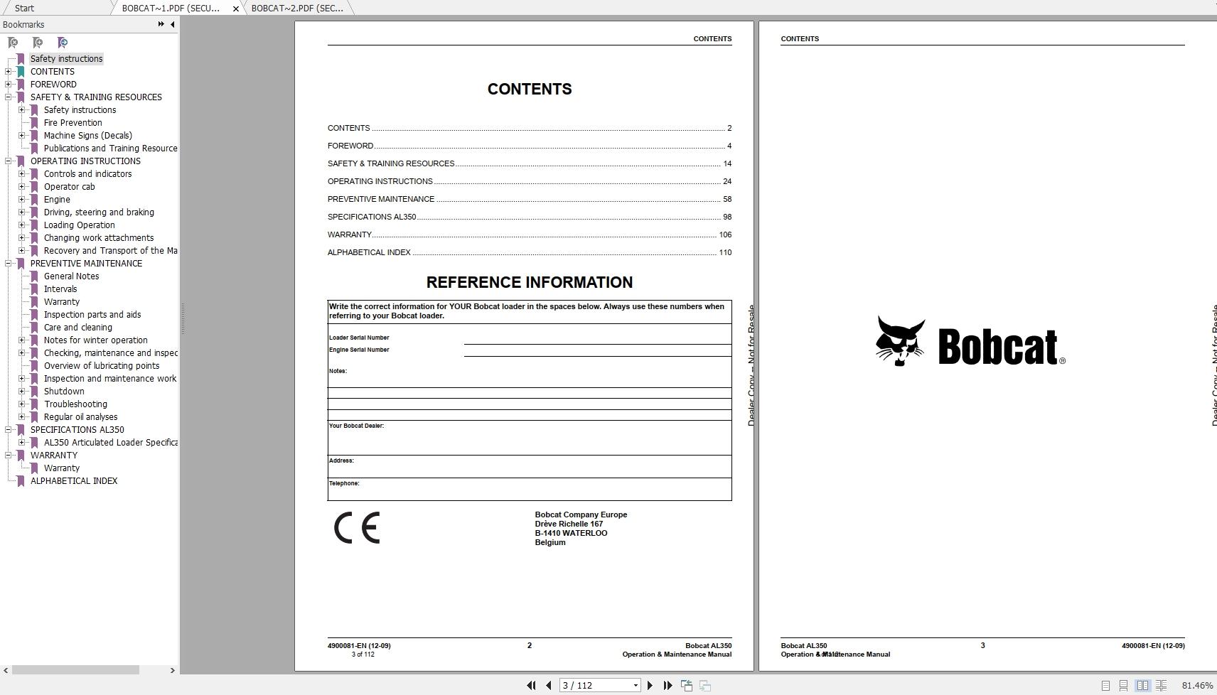Bobcat e10 operator manual diagram