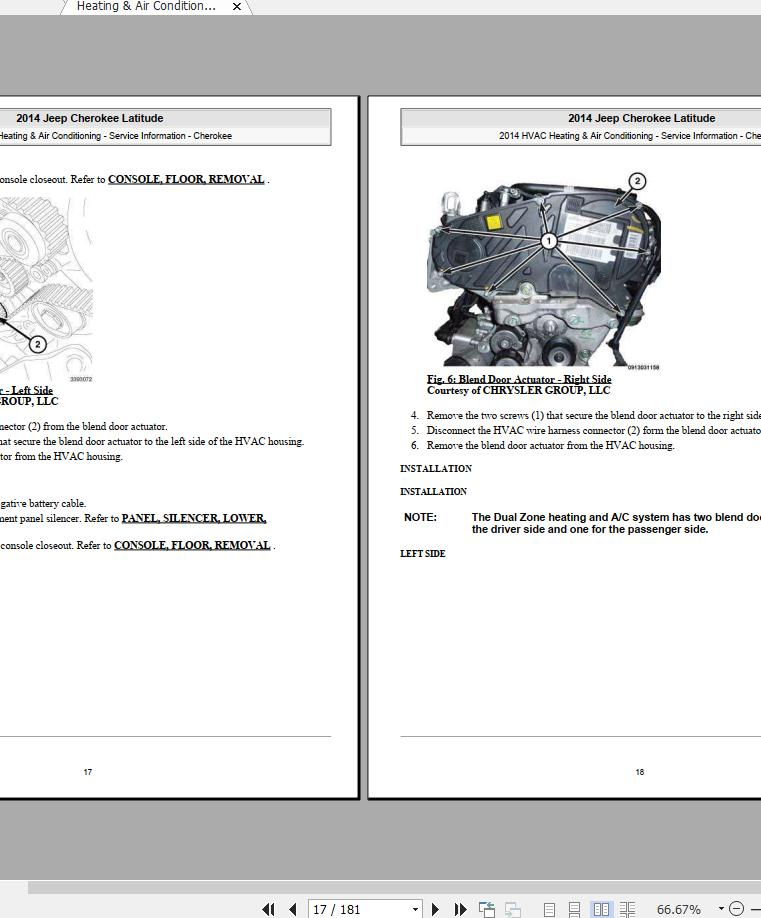 Jeep Cherokee Latitude-trailhawk-sport  2014-2019  Workshop Manual  U0026 Wiring Diagram