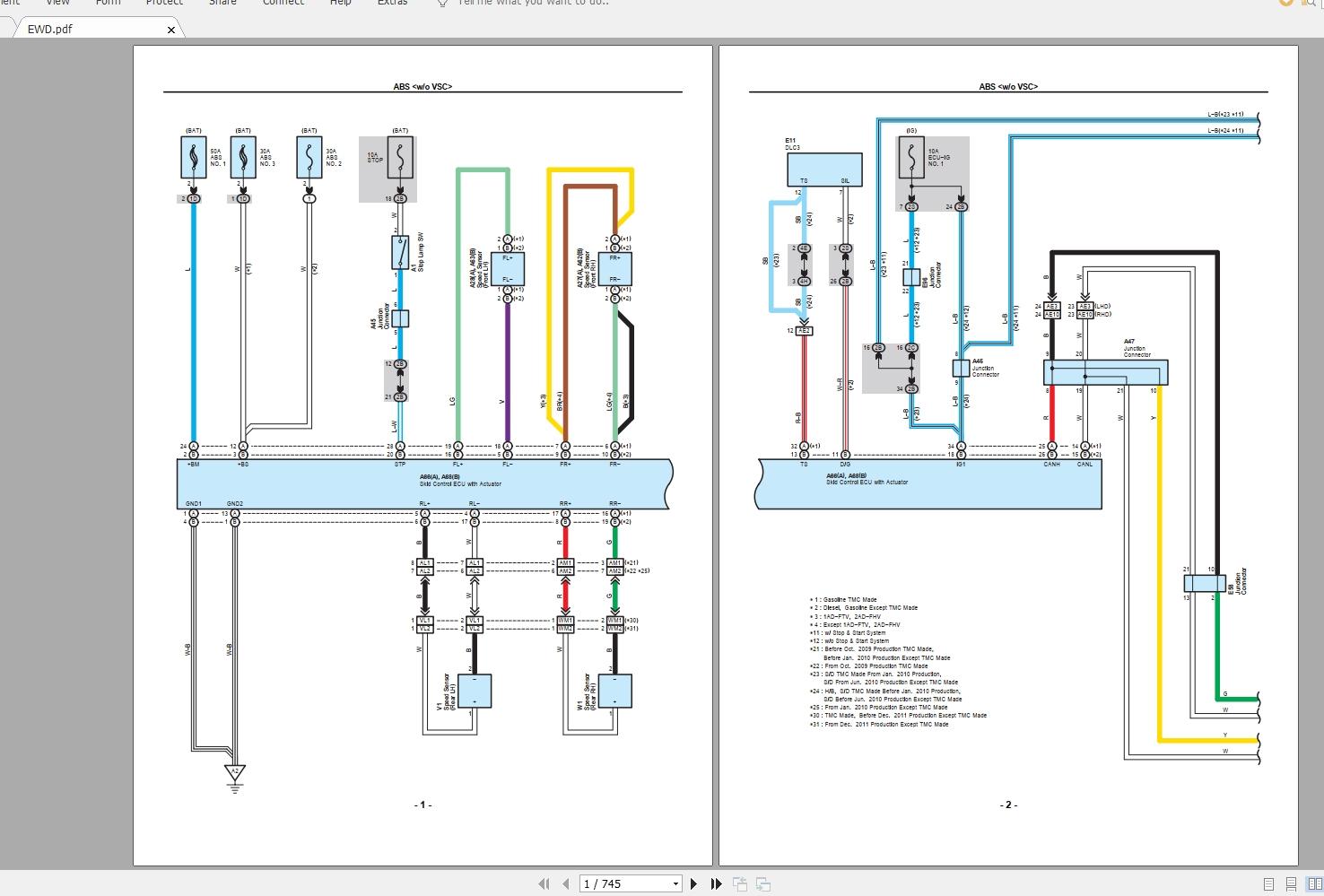 Toyota Auris Wiring Schematic