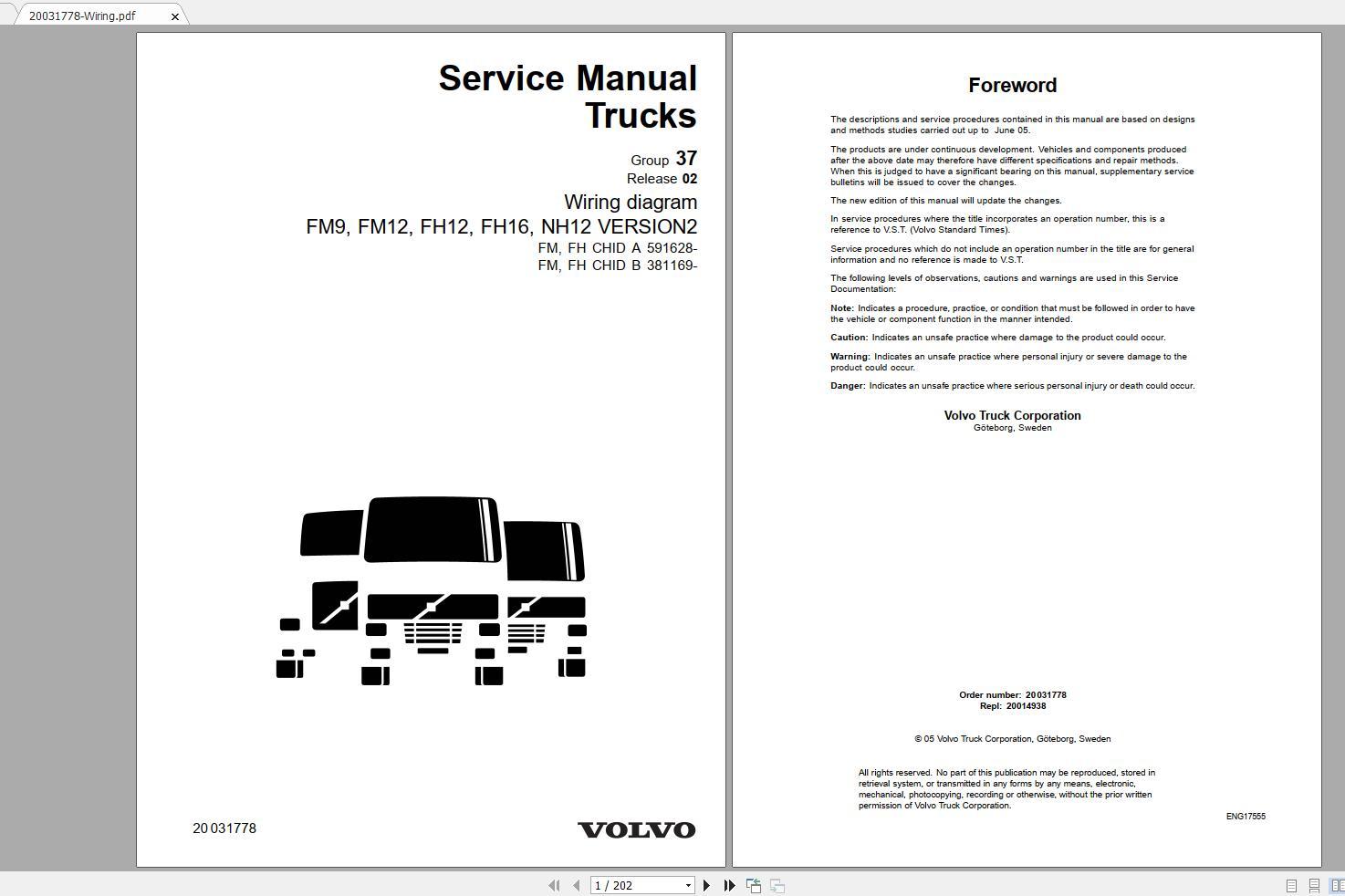 Volvo Nh565  Fh565 Trucks Service Manual Buses  U0026 Wiring Diagrams - Homepage