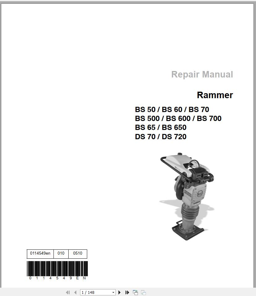 Wacker Neuson Crawler Excavator 1404 Spare Parts List