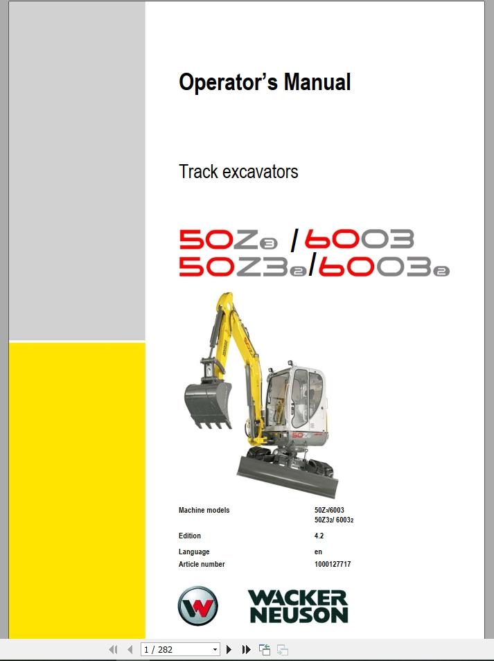 Wacker Neuson Wheel Loader Wl 30 Operators Manual