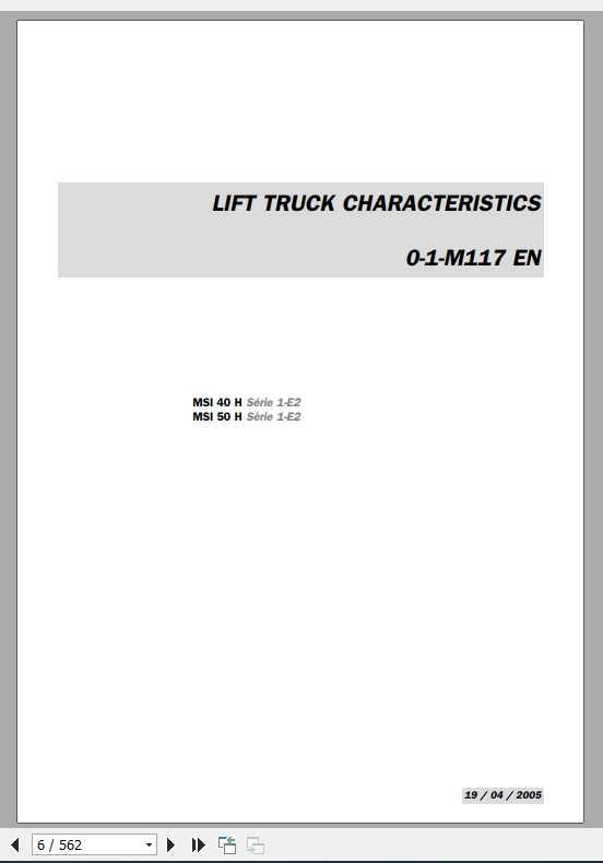 Manitou MSI 40 H, MSI 50 H Series 1-E2 Repair Manual_0-1-M117EN