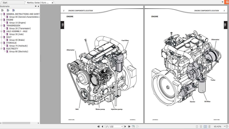 Manitou Series 3 Euro 3(M26-M50-4 T) Repair Manual