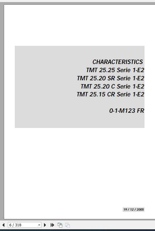 Manitou TMT 25.25 25.20 25.15 Series 1-E2 Repair Manual