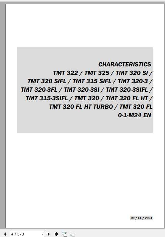 Manitou TMT 315-320-322 Series Repair Manual