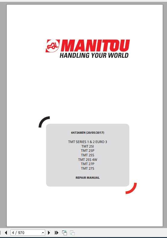 Manitou TMT Series 1,2 Euro 3(TMT 25-TMT 27) Repair Manual_647268EN