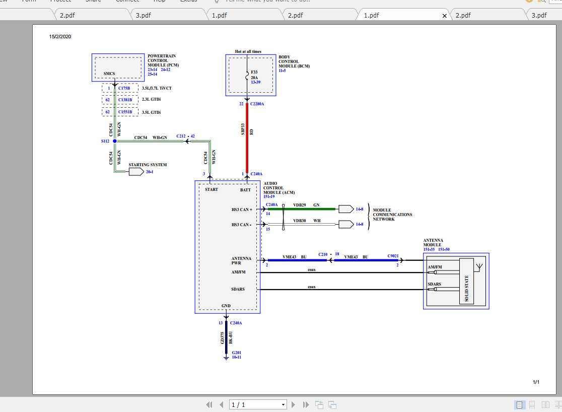 Ford Explorer 2018 Electrical Wiring Diagram - Homepage ...