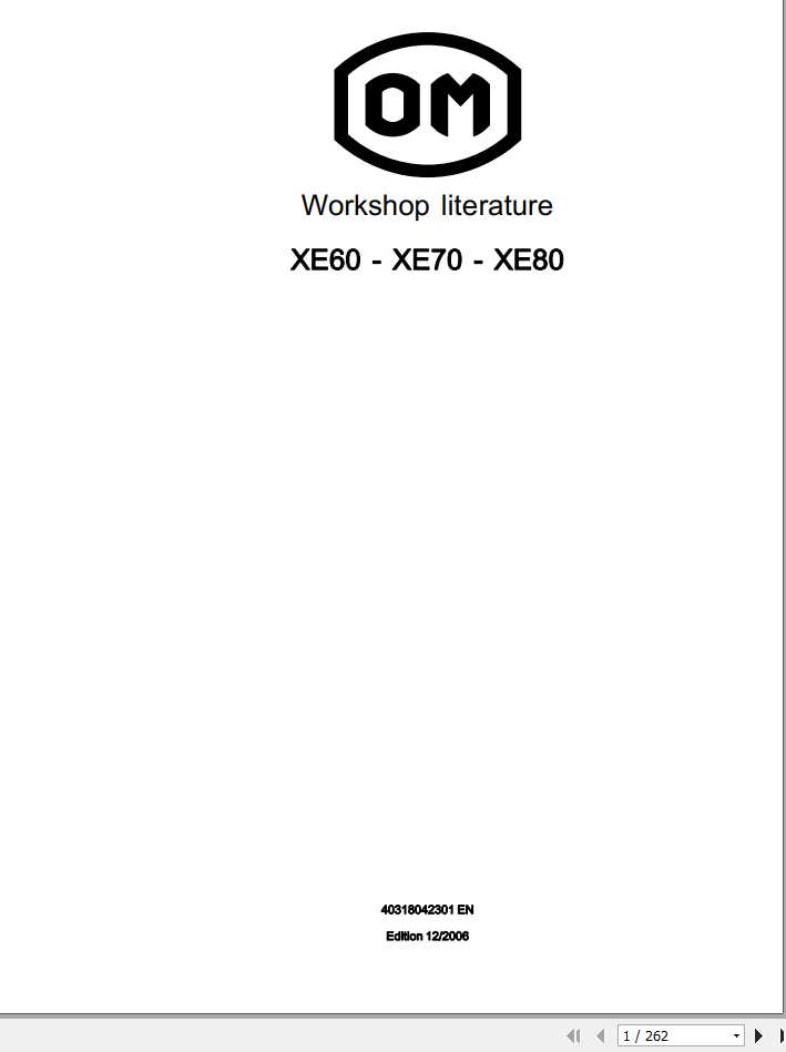 Still OM Pimespo Forklift XE60 XE70 XE80 Series 4031 Workshop Manual