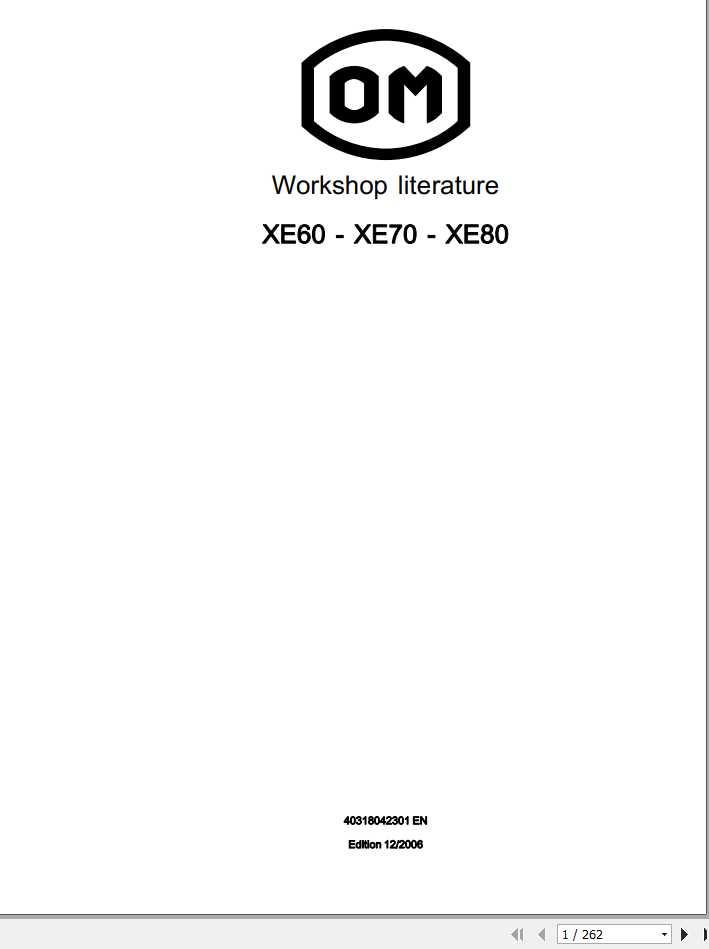 Still OM Pimespo Forklift XE60 XE70 XE80 Series 4031 Workshop Manual