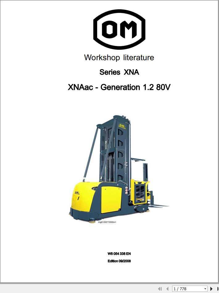 Still OM Pimespo Forklift XNAac generation 1.2 80V Workshop Manual