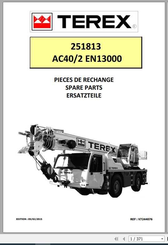 Terex Demag Mobile Crane 251813 AC40-2 AC40-2L EN13000 Shop Manual_FR_EN-2015
