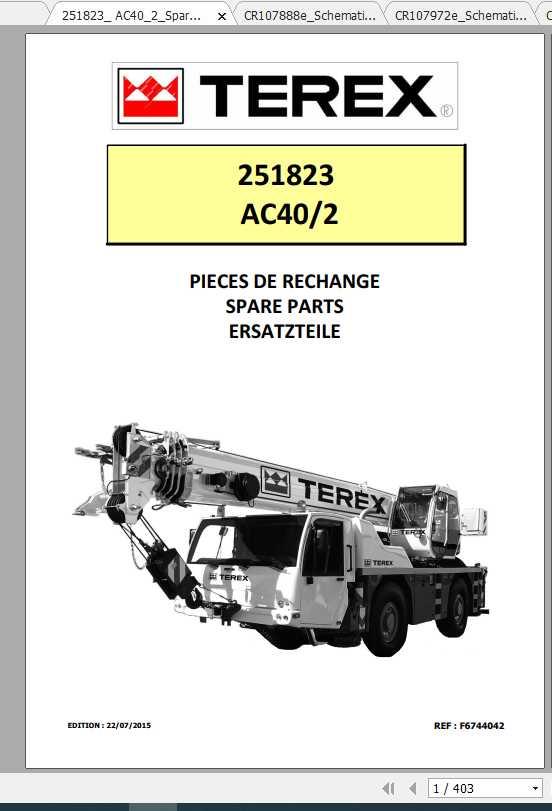 Terex Demag Mobile Crane 251823 AC40-2 AC40-2L Shop Manual_FR_EN-2015