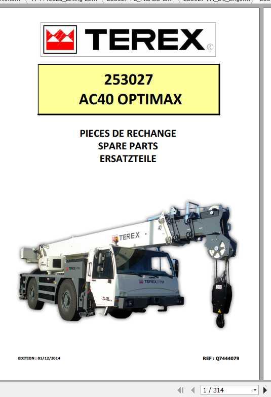 Terex Demag Mobile Crane 253027 AC40 OPTIMAX Shop Manual_FR_EN-2014