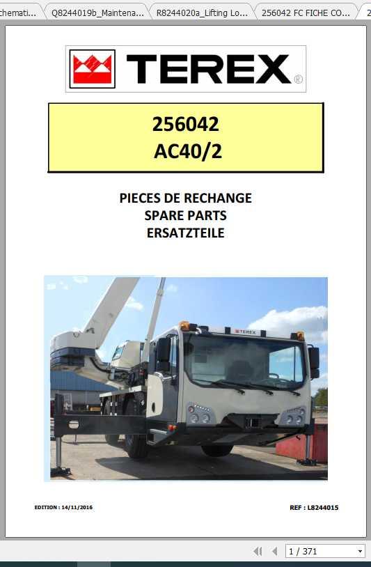 Terex Demag Mobile Crane 256042 AC40-2 AC20-2L EVO T3 Shop Manual_FR_EN-2016