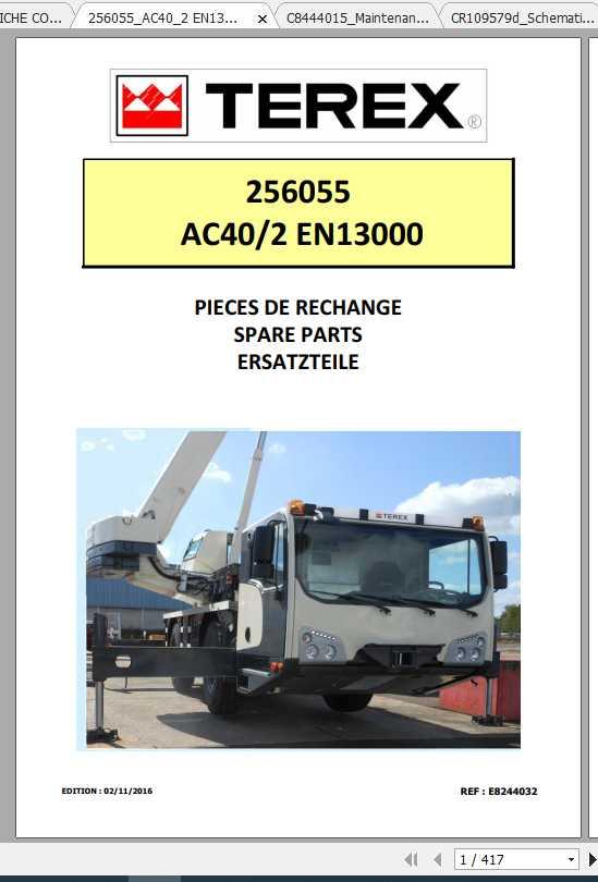Terex Demag Mobile Crane 256055 AC40-2 AC20-2L EVO EN13000 Shop Manual_FR_EN-2016