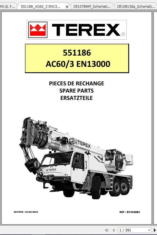 Terex Demag Mobile Crane 551186 AC60-3 EN13000 Shop Manual_FR_EN-2016
