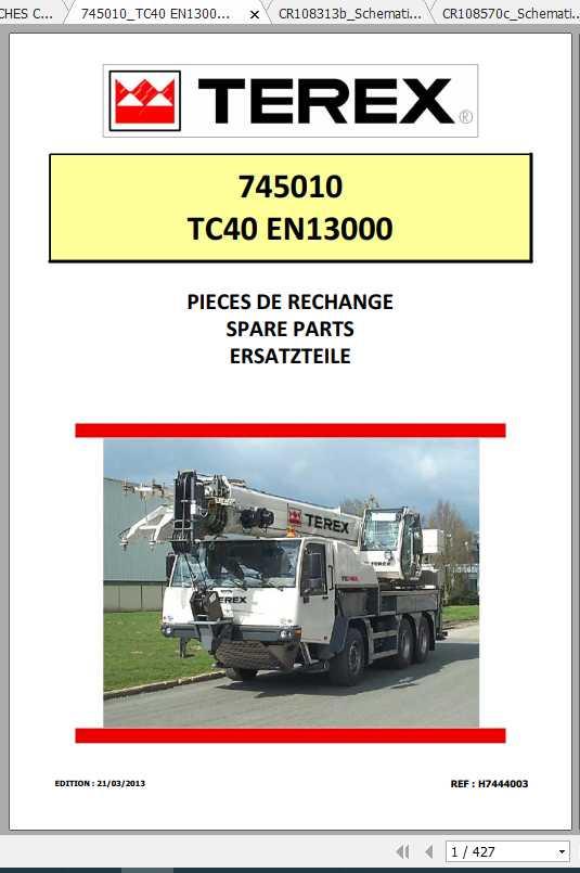 Terex Demag Mobile Crane 745010 TC40 TC40L EN13000 Shop Manual_FR_EN-2013