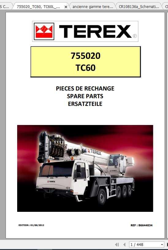 Terex Demag Mobile Crane 755020 TC60 TC60L Shop Manual_FR_EN-2012