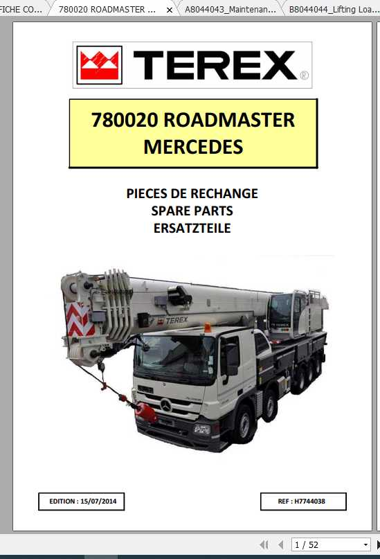 Terex Demag Mobile Crane 780020 Roadmaster 5300L Mercedes Shop Manual_FR_EN-2014